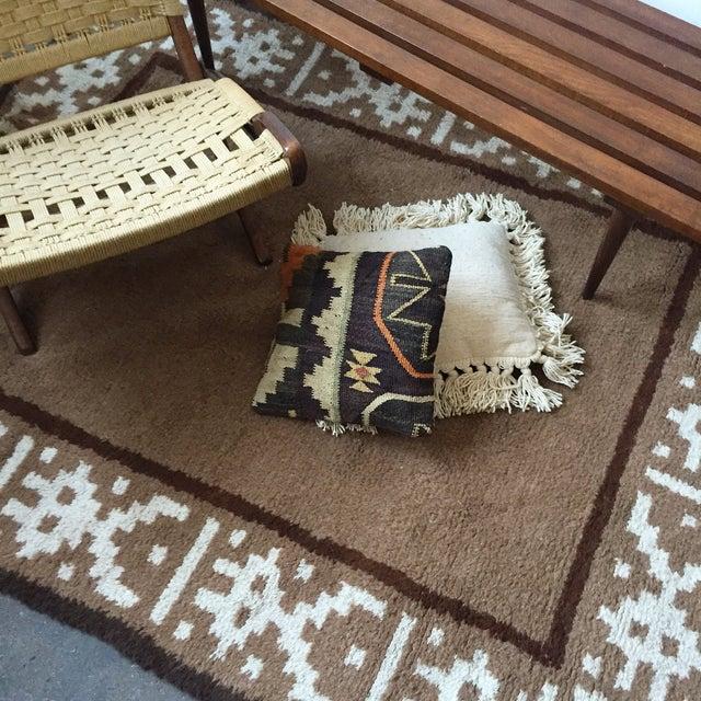 """Vintage Alpaca & Wool Peruvian Rug - 6'4"""" x 4'10"""" - Image 11 of 11"""