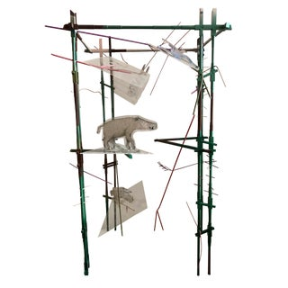 """1980s """"Into the Woods"""" Christine Clark Handmade Steel Sculpture For Sale"""