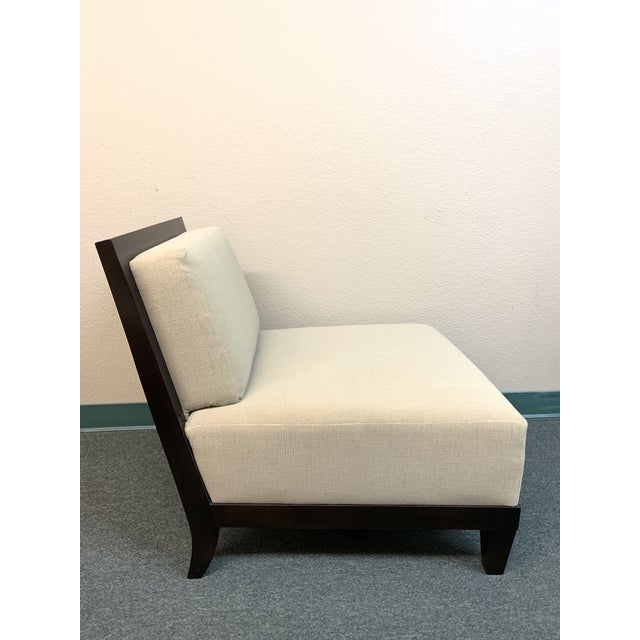 Contemporary Barbara Barry Hbf Carmel Armless Chair- a Pair For Sale - Image 3 of 13