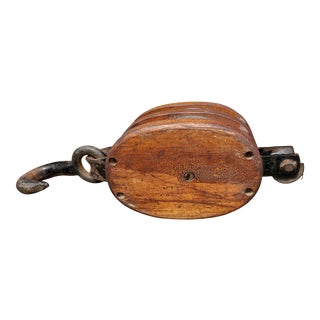 Huge Industrial Block & Tackle 19th Century For Sale