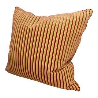 Vintage Fonthill Cut Velvet Fabric Throw Pillow For Sale