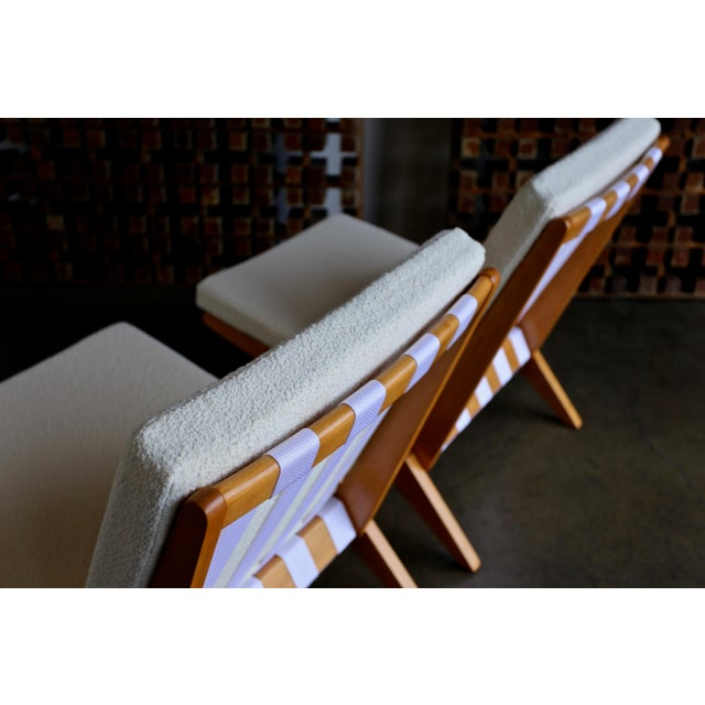 1950s Scissor Lounge Chairs by Pierre Jeanneret for Knoll International - a Pair For Sale - Image 5 of 12