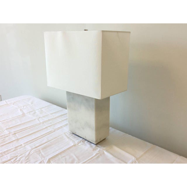 Modern Ralph Lauren Marble Lamp With Shade For Sale - Image 3 of 9