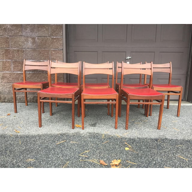 Vintage Mid-Century Danish Teak Dining Chairs- Set of 8 For Sale - Image 9 of 9