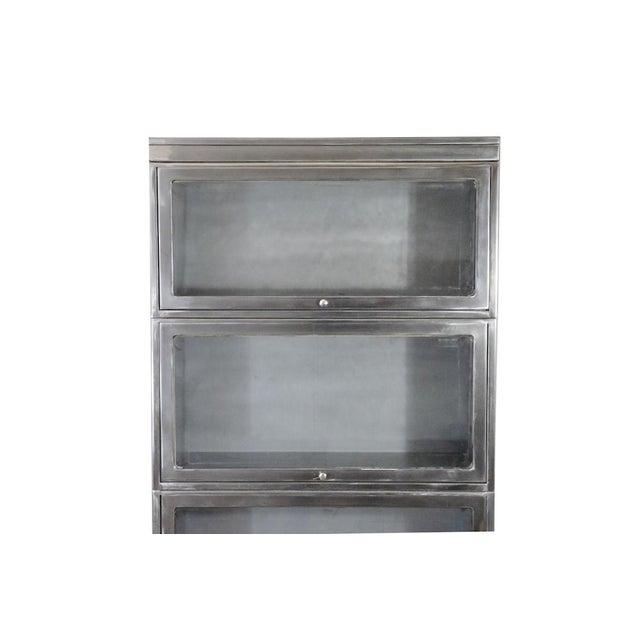 Industrial Glass Door Barrister Bookcase Chairish