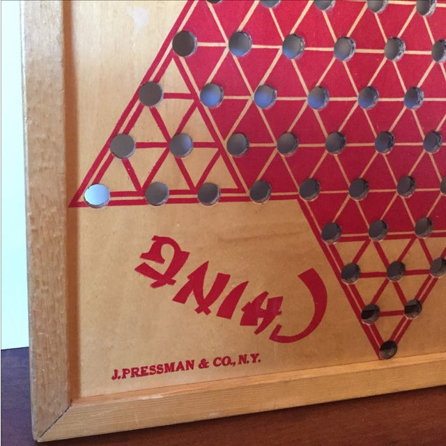 Vintage Wooden Chinese Checkers Board - Image 4 of 11