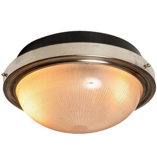 1960s Mid-Century Modern Sergio Mazza for Artemide Nickeled Brass Ceiling or Wall Light For Sale
