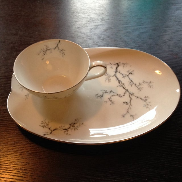 Beautiful antique Noritake fine bone china. Excellent condition. Set of 6 tea cups and 6 luncheon plates. This was bought...