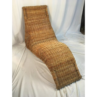 1970s Vintage Wicker Chaise Lounge Preview