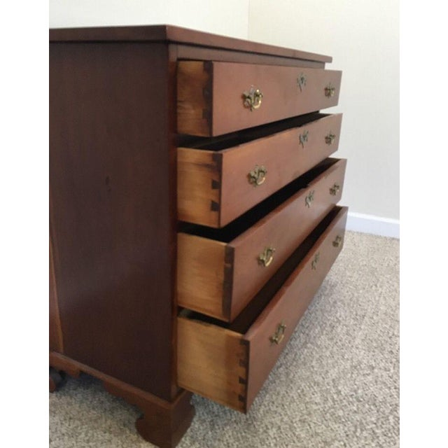 19th Century Solid Cherry Federal Dresser For Sale - Image 9 of 11