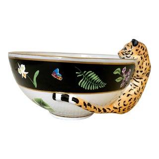 Rare Lynn Chase Jaguar Jungle Bowl For Sale
