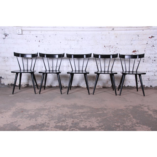 Planner Group Paul McCobb Ebonized Planner Group Dining Chairs - Set of 10 For Sale - Image 4 of 13