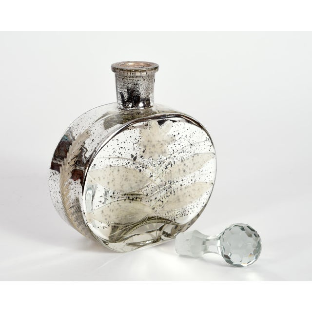 Late 20th Century Mercury Glass Decorative Bottle Vanity Piece For Sale - Image 5 of 7
