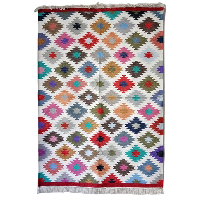 """Textile Contemporary Handwoven """"Kotri"""" Area Rug - 4′ × 6′ For Sale - Image 7 of 7"""