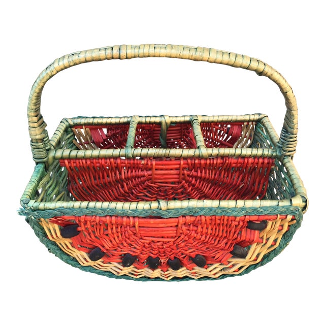1970s Vintage Watermelon Basket For Sale