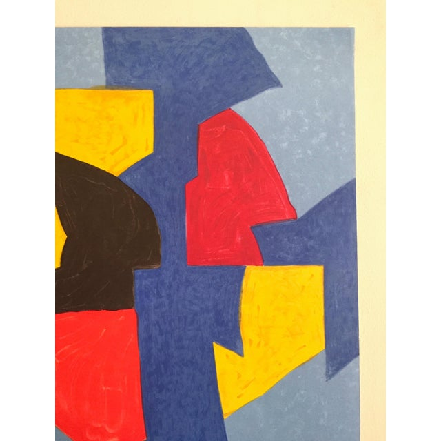 1970s Serge Poliakoff Rare Vintage 1970 Mourlot Lithograph Print Modernist Paris Exhibition Poster For Sale - Image 5 of 13