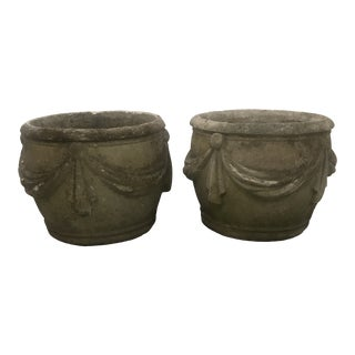 Early 20th Century French Garden Planters- A Pair For Sale