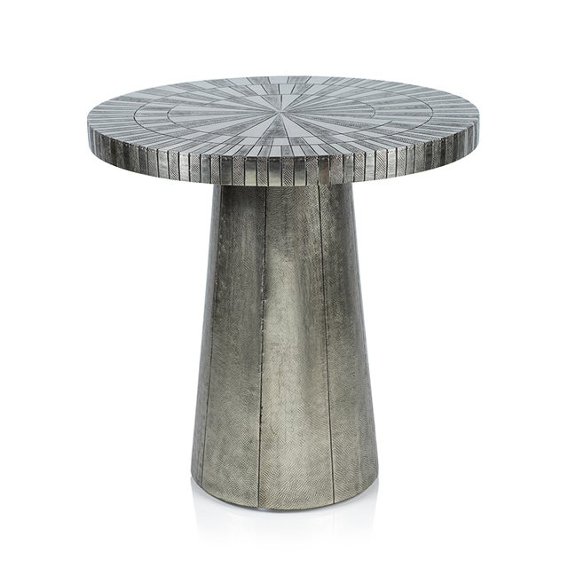 Contemporary Kenneth Ludwig Astro Silver Metal Table For Sale - Image 3 of 3