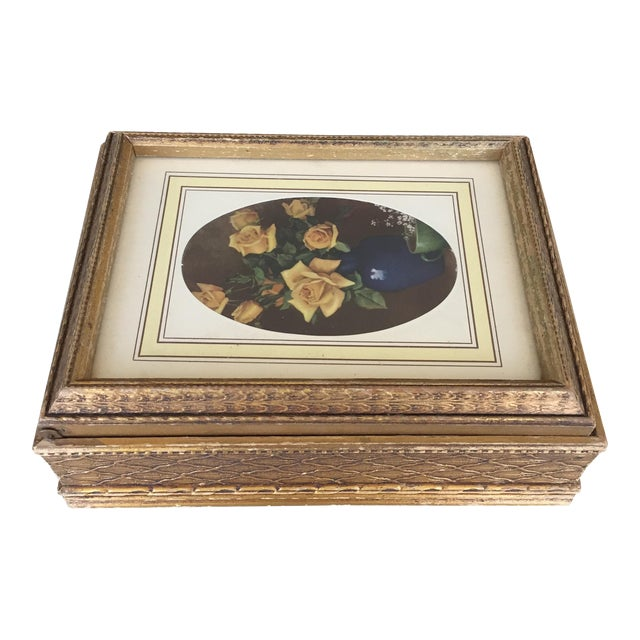 Antique Carved Wooden Jewelry Box - Image 1 of 11