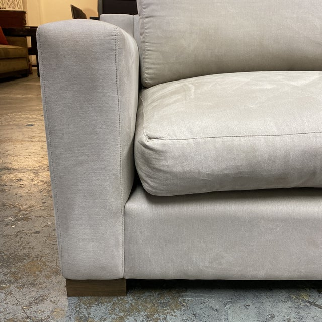 G. Ramono Micro Fiber Down Filled Two Piece Sectional For Sale - Image 9 of 12