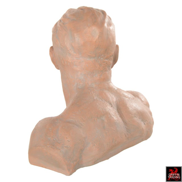 Early 21st Century Terracotta Bust of a Man For Sale - Image 5 of 10