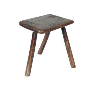 Danish Rustic Footstool or Plant Stand
