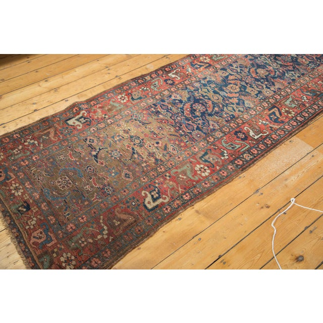 "Antique Kurdish Bidjar Rug Runner - 3'7"" X 13'10"" - Image 6 of 7"