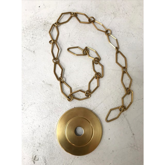 Modern Brass and Gold Pendant by Becki Owens for Hudson Valley Lighting For Sale - Image 9 of 10