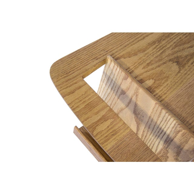 Jens Risom Magazine Table in Oak For Sale - Image 9 of 10
