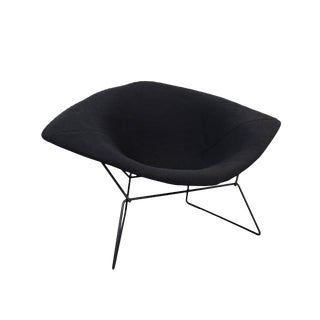Bertoia for Knoll Mid-Century Modern Black Diamond Rocking Chair For Sale