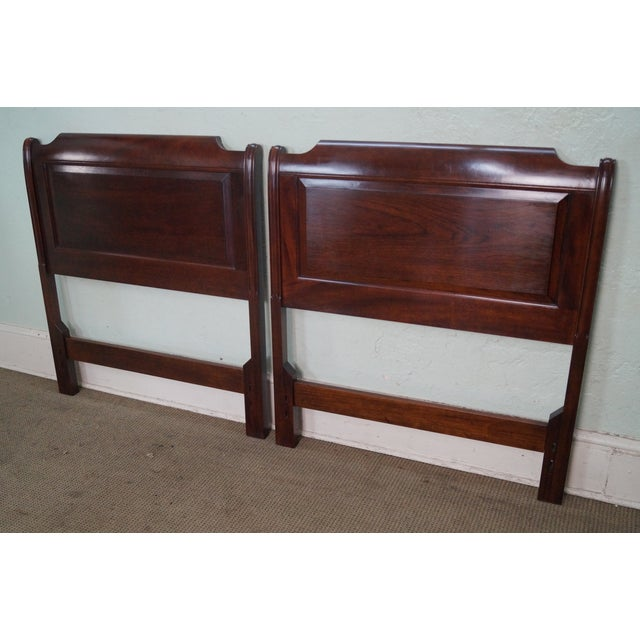 Stickley Solid Mahogany Twin Size Headboards - A Pair - Image 2 of 9