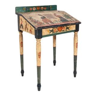 Folk Art Writing Table For Sale