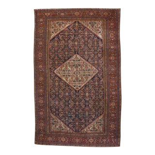 Antique Persian Farahan Gallery Rug with Modern Traditional Style For Sale