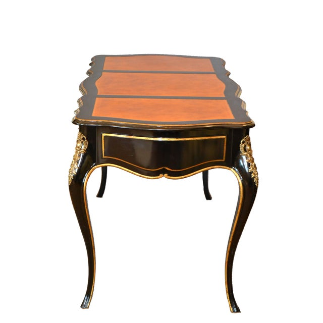 Drexel In the Manner of French Louis XV Writing Desk With Stool by Drexel For Sale - Image 4 of 13