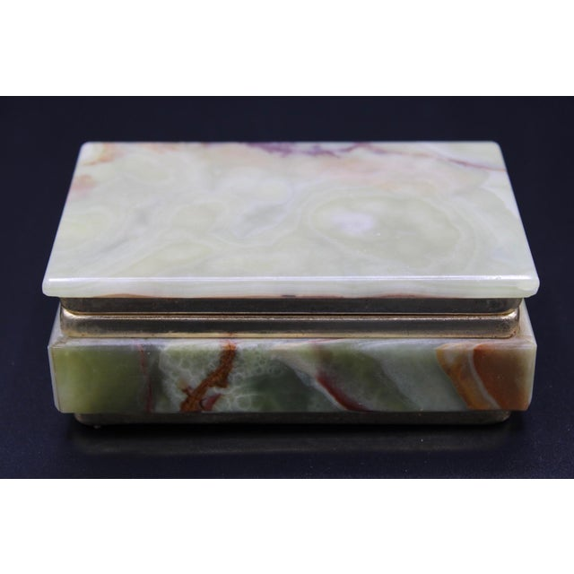 Vintage Light Green Marble Lidded Treasure Box For Sale - Image 10 of 13