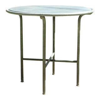 Embru Slate Top Outdoor Table- Switzerland 1950s For Sale