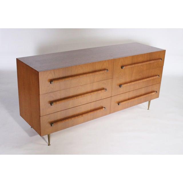 Mid-Century Modern t.h. Robsjohn Gibbings Six-Drawer Dresser for Widdicomb For Sale - Image 3 of 9
