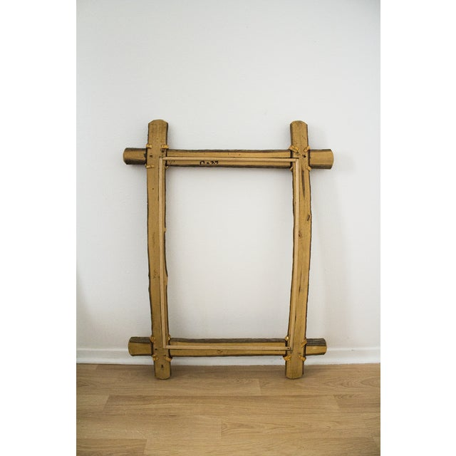 Rustic Ash Log Frame For Sale - Image 4 of 4
