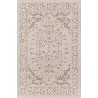 "Erin Gates Downeast Brunswick Beige Machine Made Polypropylene Area Rug 5' X 7'6"" For Sale"