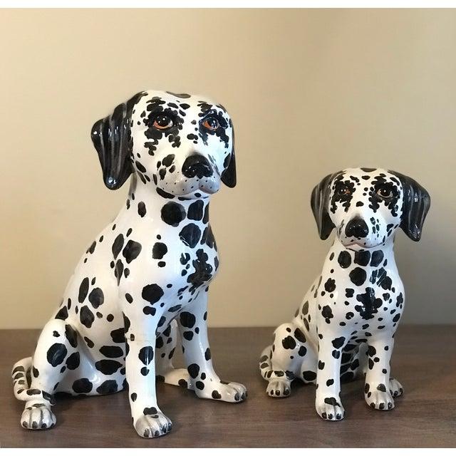 Vintage Italian Ceramic Dalmatian Figurines - a Pair For Sale - Image 10 of 10