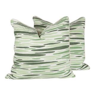 Lulu DK Vine Linen Ocean Pillows - A Pair