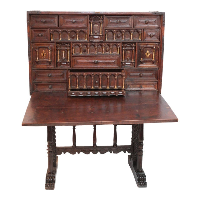Rare and Important 16th Century Spanish Vargueno For Sale