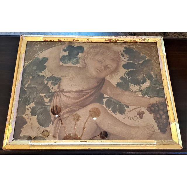 Early 20th Century Medici Print of Putti Under a Vine For Sale - Image 9 of 11