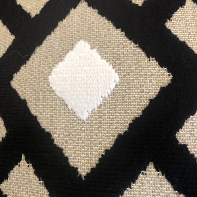 "Clarke & Clarke ""Arlington"" in Ebony 22"" Pillows-A Pair For Sale In Greensboro - Image 6 of 7"