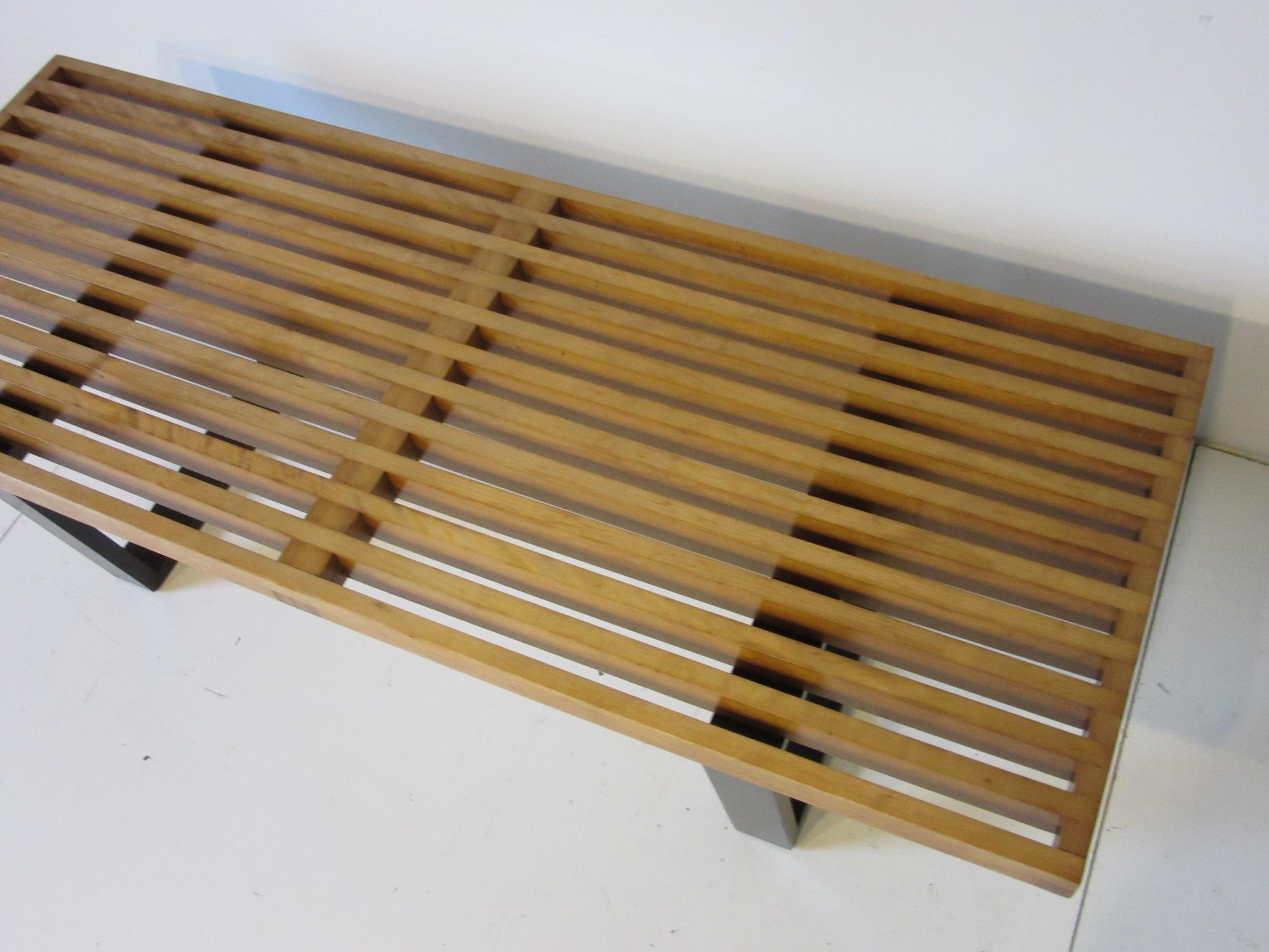 Herman Miller Slat Bench / Coffee Table By George Nelson For Sale In  Cincinnati   Image