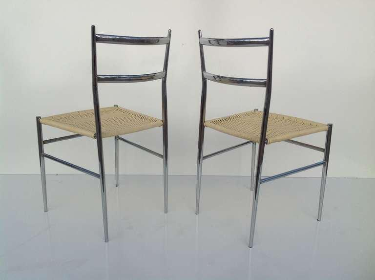 A Pair Of Chrome Chairs Attributed To Gio Ponti   Image 4 Of 7