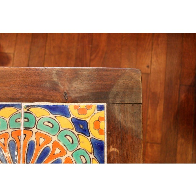 Vintage California Pottery Tile Side Table For Sale - Image 10 of 11