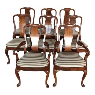 Antique Mahogany Dining Chairs - Set of 8
