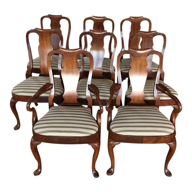 Antique Mahogany Dining Chairs - Set of 8 - Image 1 of 11