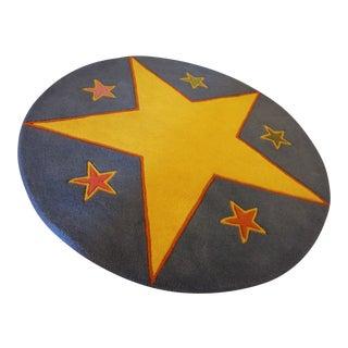 """Star Pattern Round Rug - 36"""" X 36"""""""